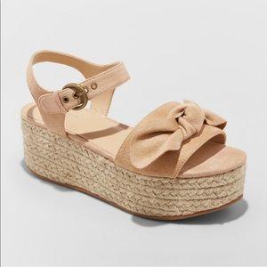 Taupe espadrille wedge platform  Sandals